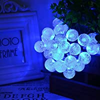 Solar String Lights, OxyLED 30 LED Garden Patio Outside String Lights,Waterproof Indoor/Outdoor String Lights, Great Garden Terrace Patio Outside Xmas lights (Blue) by OxyLED