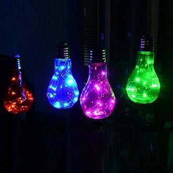 Retro led lampe party deko gl hbirne aus glas mit intrigierter mirco lichterkette als - Deko glas lichterkette ...