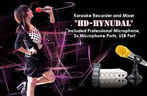 Karaoke Recorder and Mixer - Included Microphone, 2x Microphone Ports, USB Port