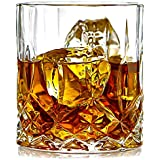Prime Deluxe Lead Free Crystal Whiskey Glasses Set Of 6 Pcs 300 Ml 1 Oz Unique Bourbon Glass, Ultra-Clarity Double Old Fashioned Glasses