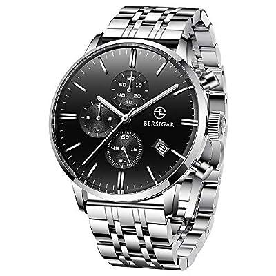 Orologio da uomo BERSIGAR Business - Cronografo al quarzo Completo