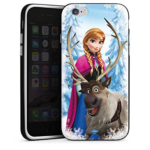 Apple iPhone X Silikon Hülle Case Schutzhülle Disney Frozen Anna & Sven Fanartikel Geschenke Silikon Case schwarz / weiß
