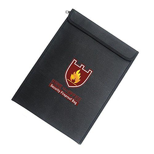 Everyday Sicher Dokument Feuerfestes wasserabweisend Cash Umschlag Halter Tasche Datei Beutel, Blacka, 38*28*7.5cm (Feuerfest-datei Sicher)