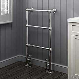 iBathUK | 3 Bar Traditional Victorian Chrome Heated Towel Rail Bathroom Radiator