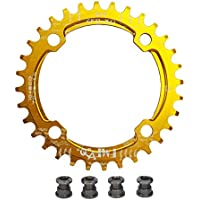 upanbike bicicleta Narrow Wide plato 104BCD forma redonda sola cadena anillo dientes–dientes 38T, dorado