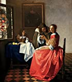 Impresión artística / Póster: Jan Vermeer van Delft 'The girl with the wine glass' - Impresión...