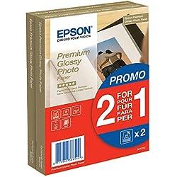 Epson C13S042167 Premium Glossy - Papier Photo - Glacé (Pack de 2)