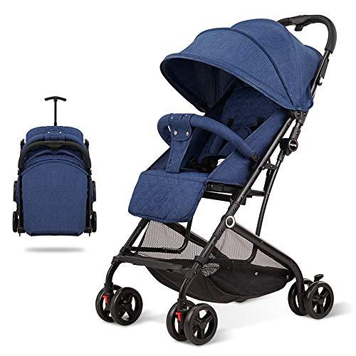 Leichte Kinderwagen Jogger Kinderwagen kann sitzen liegend zusammenklappbaren tragbaren Neugeborenen Warenkorb Warenkorb PNYGJBYEC (Color : Blue) -