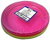 20 Stk. Teller Partyteller farblich bunt gemischt aus PS, rund Ø 22 cm