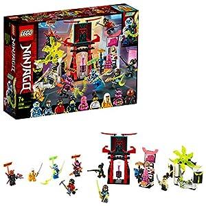 LEGO Ninjago - Mercado de Jugadores, Juguete de Construcción, Incluye 9 Minifiguras, Digi, Jay, Avatar Rosa de Zane y Avatar de Harumi, a Partir de 7 Años (71708)