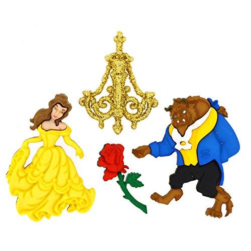 Disney Beauty und The Beast-Neuheit Craft Tasten & Verzierungen von Kleid IT UP