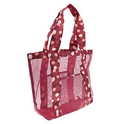 Viaggio Maglia Borsa di Immagazzinaggio Sacchetto da Spiaggia Shopping Trucco Cosmetico Tote - #2 #2
