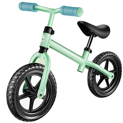 YUMEIGE Laufräder Kinder Laufrad 3 Farben Classic Lightweight No-Pedal Kleinkinder Walking Fahrrad Jungen Mädchen Geschenk Glider Bike Einstellbare Lenkerhöhe (Color : Green)