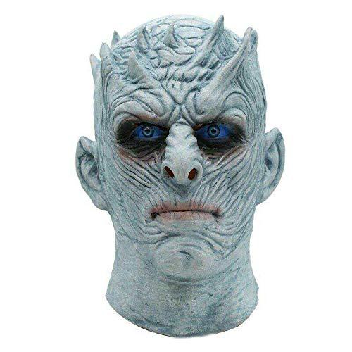 JNKDSGF HorrormaskeFilm Game Thrones Night King Maske Halloween Realistische Scary Cosplay Kostüm Latex Party Maske Erwachsene Zombie (Game Of Thrones Weibliche Kostüm)