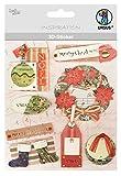 Ursus 56420087 - 3D Sticker Weihnachten, hochwertigen Materialien