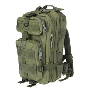 Lixada 30L Nylon Outdoor Sport Military Tactical Backpack Molle Rucksacks Camping Hiking Trekking Bag Army Green