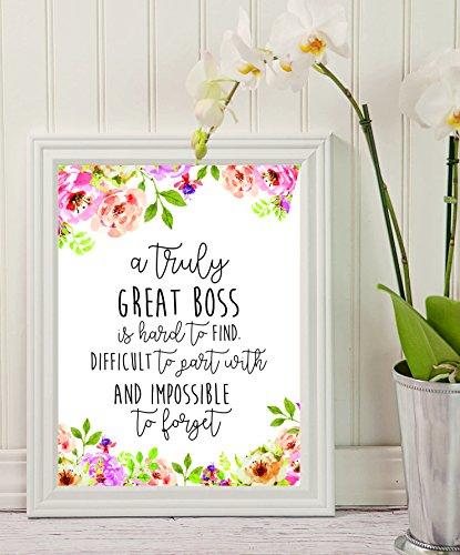 BOSS regalo–una verdadera gran Jefe es difícil de encontrar–oficina–de regalo oficina decoración–going Away regalo de jubilación, personalizado–Custom diseño de–regalo para Boss–especial regalo–trabajo cita de motivación.