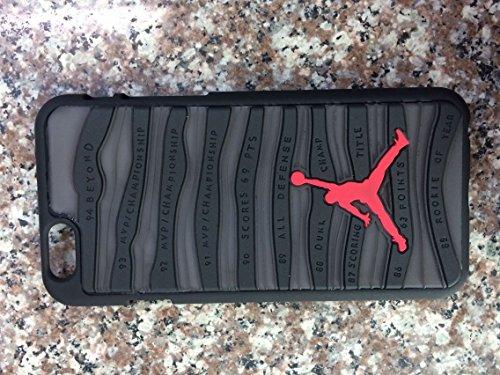 Schutzhülle für Apple iPhone 5/5S, 6 und 6Plus, Design: Schuhsohle von Air Jordan, schwarz, Apple iPhone 5/5S (Real Schuhe Jordan)