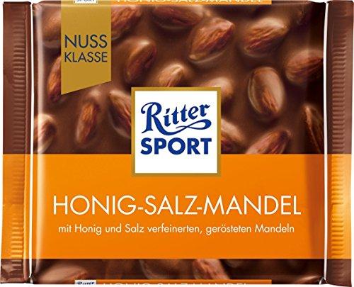 Ritter Sport Nuss Klasse Honig-Salz-Mandel, 100 g Schokolade Honig