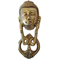 Brass Blessing : Brass Door Knocker - Traditional Style - Door Hardware : (Buddha Type - Brass Finish)