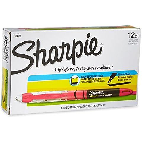 Accent Liquid Pen Style Highlighter, Chisel Tip, Fluorescent Pink, Dozen, Sold as 1 Dozen