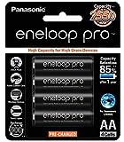 #10: Panasonic Eneloop Pro upto 2550mAh 4xAA Rechargeable Ni-MH Battery BK-3HCCE/4BN