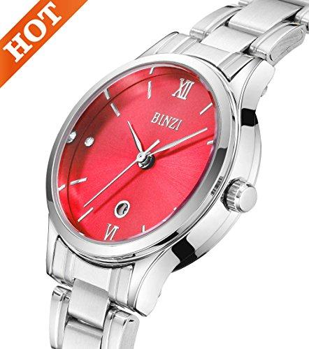 Damen-Designer-Diamant-Armbanduhr mit Edelstahl-Armband Handgelenk Uhren female-2707