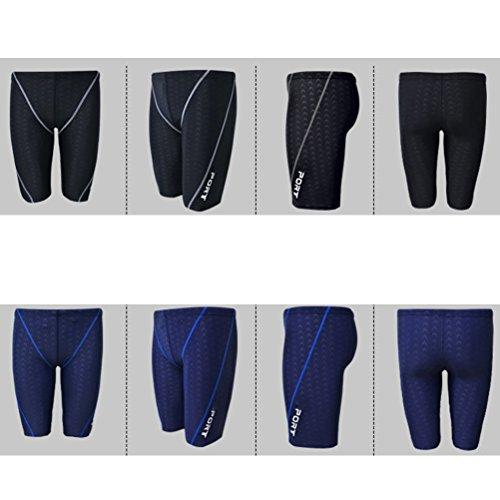 Zhhlinyuan Mens Imitation Shark Skin Baden Trunks Shorts Summer Fashion Beachwear Black