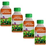 Trustbasket Concentrated All Purpose Organic Plant Nutrient Feeds 100 Plants Upto 12 Months (4 Bottles)