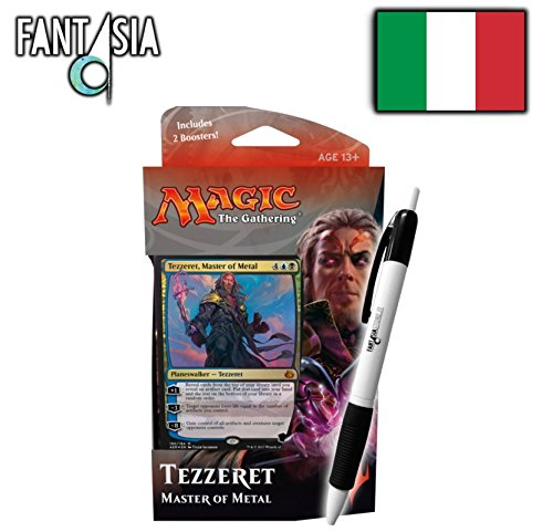 Magic Rivolta dell'etere Planeswalker deck : Tezzeret Maestro del Metallo + Penna Fantàsia