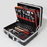 Tixit Werkzeugkoffer 'Elektriker' | 125-teilig | mit hochwertigem ABS-Koffer | herausnehmbare Werkzeugabteile | inkl. geprüftem VDE-Werkzeug