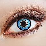 aricona Kontaktlinsen Cosplay Farblinsen blaue Kontaktlinsen – deckende Circle Lenses, bunte farbige Jahreslinsen für dunkle Augen, Linsen für Anime