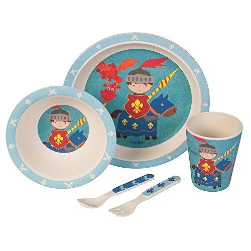 Set–couvert-Petit-chevalier-Ustensiles-en-bambou-Ustensiles-pour-enfants-rutilisables-Assiettes-Gobelets-Bol–muesli-cuillre-fourchette-rsistant-au-lave-vaisselle-sans-BPA