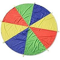 LIOOBO Juego de paracaídas con 8 Mangos para Interior o Exterior 2m