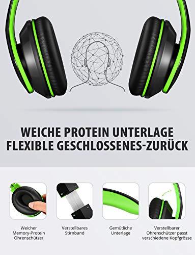 Mpow Bluetooth Kopfhörer Over Ear, [Bis zu 20 Std] Kabellose Kopfhoerer mit Hi-Fi Stereo mit Dual 40mm Treiber, CVC 6.0 Noise Canceling für Integriertem Mikrofon Freisprechen - 3