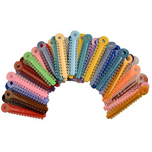 AZDENT® Zahnärztliche Gummi Ring Kieferorthopädische Elastische Ligatur Beziehungen/ Ligatur Krawatte(1014 Stk,Bunt)