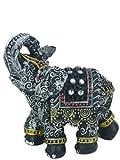 Elefant mit Glitzersteinen Mini Elefant Deko Glücksbringer Dekoration Feng Shui