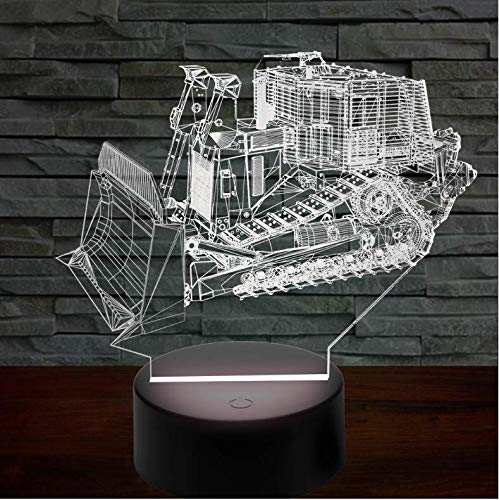 Buntes 3D Nachtlicht Armored Vehicle Table Lamp 7 Colors Changing Desk Lamp Lamp Novelty Led Night Lights Led Light Weihnachten Decoration Geburtstagsgeschenk