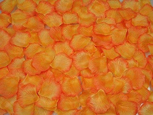 Rosenblätter Rosenblüten Rosenblütenblätter Dunkelorange für Hochzeit Valentinstag Dekoration 500 Stück