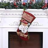 SZNYD Weihnachten Große Weihnachtsdekoration Fenster hängen Anhänger Tasche Bar Weihnachtsfeier Anordnung 2, Alter Mann Simulation Ledersocken