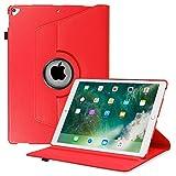 Fintie Hülle für iPad Pro 12.9-360 Grad Rotierend Stand Cover Case Schutzhülle Tasche mit Auto Schlaf/Wach Funktion für iPad Pro 12.9 2. Generation 2017/1. Generation 2015, Rot