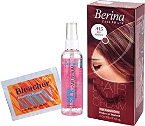 Berina Hair Color, Serum and Bleacher, Red Blonde