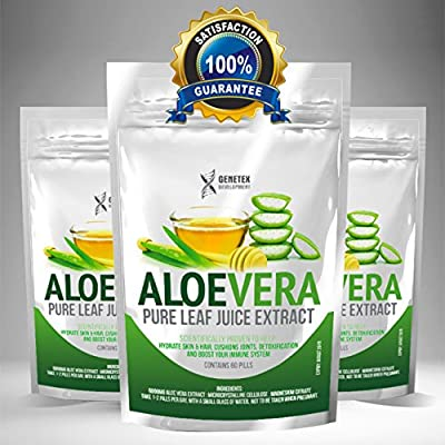 6000mg x 60 Tablets ALOE VERA PLANT JUICE GEL extract Detox Pills - RRP £20! by Genetex Developments Ltd