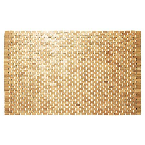 Sealskin Badteppich Woodblock, holz, 52 x 90 cm