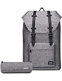 """KAUKKO Rucksack Damen Herren Vintage Laptop Reiserucksack Für 14\"""" Notebook Lässiger Daypacks Schultaschen Sac à Dos Loisir, 43 Centimeters"""