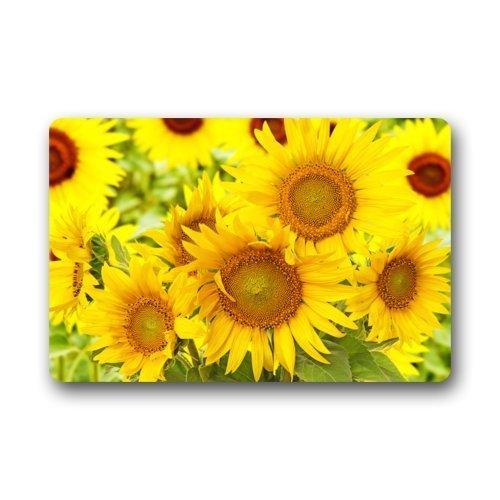 ELQSMTIR Foto von Sonnenblumen Home Fußmatten Top Stoff & Gummi Durable Wohnzimmer Schlafzimmer Zuhause Fußmatten Top Stoff & Gummi Matte Fußmatte Teppich 59,9 x 39,9 cm - Sonnenblume Bubble