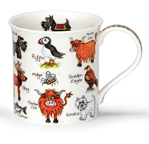 Stunning Simply Scotland Highland Coo Animals Dunoon Fine Bone China Mug Bute Style by Dunoon -