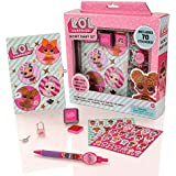 LOL Surprise Lockable Secret Diary & Stampers Set di cancelleria - Notebook per ragazze con blocco pad