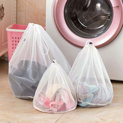 Guoyihua Cordon de serrage à laver Sac à linge en filet Saver Sac en filet pour machine à laver, Nylon, Taille L GUOYIHUA