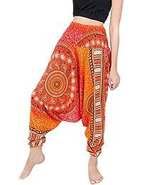 ab520c3084e BANJAMATH  Women s Peacock Print Aladdin Harem Trousers Hippy Pants Jumpsuit